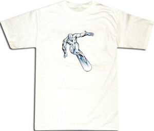 The Silver Surfer T-SHIRT ALL SIZES # White