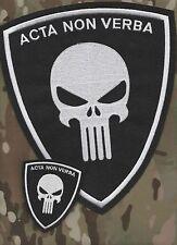 CAFÉ RACER ROCKERS 59 TON-UP-BOY OUT-LAW BIKER BACK 2-PATCH SET: ACTA NON VERBA