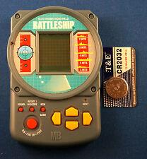 BATTLESHIP + Free Battery ELECTRONIC HANDHELD BOARD GAME TRAVEL MB POCKET TOY