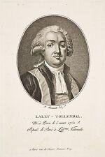 Gravure XVIII° Portrait Ovale LALLY-TOLLENDAL Député Ass. Nat. F. Bonneville