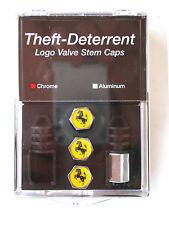 Ferrari Theft Deterrent Valve Caps Chrome