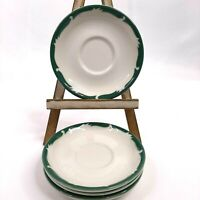Syracuse China Restaurant Ware 4 Saucers Wintergreen (Wood Stand Not Included)