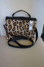 NEW B Low The Belt Leather Leopard Kenya Briefcase Handbag Purse Crossbody USA
