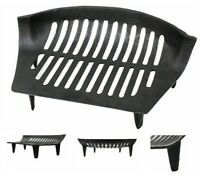 "15"" Open Fire Grate Heavy Duty Cast Iron Log Coal Wood Tidy Fireplace Chiltern"