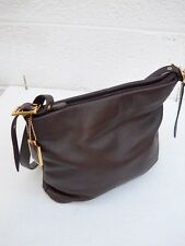 Etienne Aigner Soft Burgundy Leather Shoulder Bag