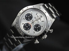 Alpha mechanical chronograph men's watch display back