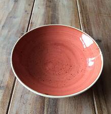 Churchill STONECAST Coupe Bowl Spiced Orange Schüssel Porzellan 113,6 cl rot
