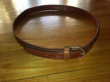 AGIO ITALY MEN'S LEATHER BROWN BELT