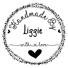 Personalised Laser Rubber Stamp - Handmade By: Heart Splatter