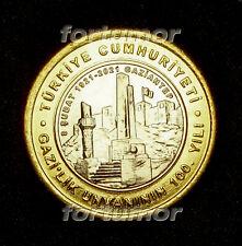 Turkey 1 Lira 2021 100th Year of Awarding Veterans to Gaziantep UNC Bimetal Coin