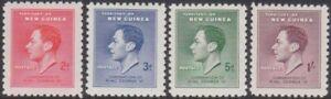 NEW GUINEA1937 CORONATION SET MINT SG.208  / 211