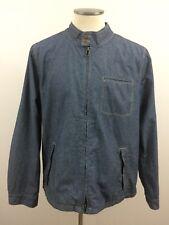 Sean John Men's 2XL Indigo Blue Stripe Full Zip long sleeve Jacket Chest Pocket