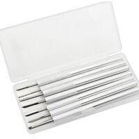 7 Stück Tranchiermesser Aluminium Anti Rutsch Silber Gravieren Werkzeug DE