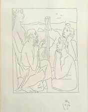 """Pablo Picasso """"Nestor's Tales of the Trojan War"""" Etching Restrike 1974"""
