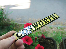 Ford Sierra Escort Sapphire COSWORTH BOOT REAR BADGE EMBLEM LOGO RS BLACK GOLD