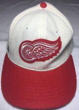 Detroit Red Wings Wool Hockey White Roman Randolph, MA Cap Hat Vintage 7 1/8