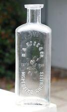 Scarce H.A. Rose Sydney 3vi Dispensing Chemist Bottle Clear Glass 15.5cm