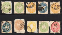 Austria & States 10 Early Stamps Used on Paper (faults) (6582)