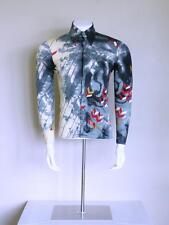 vtg 70s SIGNED disco boho designer NIK NIK mod superfly spaceage pimp shirt M