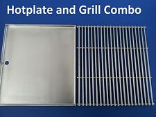 STAINLESS STEEL BBQ HOTPLATE and GRILL 48  X 39 cm 304ss GRADE NEW BARBECUE