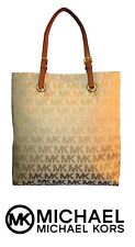 Michael Kors Ns Tote (38s1cttt3j) Biege & Camel Purse / Bag - New with Tags