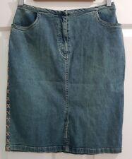Ladies Size 10 Blue Stretch Denim Skirt-Style Woman