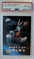 1993 NIKE, Bugs Bunny Dunking, Michael Jordan Logoman, Low pop, Graded PSA 8 !