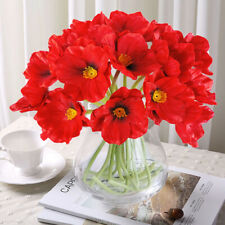 10pcs Artificial Mini Corn Poppies Silk Fake Poppy Flowers Wedding Home Decor