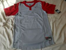 Nike Dri Fit BaseballJersey Shirt MensSz Medium Short Sleeve Pullover Nwt