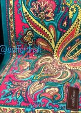 🐬 Cynthia Rowley Beach Towel NWT Paisley Turquoise Pink Green 40x70 Rich Cotton