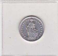1/2 Franken Silbermünze 1952  Schweiz/Helfetia