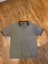 Nike Golf Tour Performance Short Sleeve Navy Blue Striped Polo Shirt Mens Xl Exc