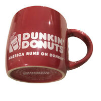 Dunkin Donuts Pink Mug Iridescent Pearl 2014 America Runs On Dunkin 14 fl. oz.
