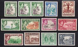 Jamaica 1938-52 GVI fine mint, cv £45