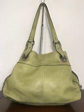 Vintage Fossil ZB2189 Large Green  Leather Hobo Shoulder Satchel Purse Bag