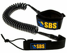 Sbs - Premium Coiled Sup Leash - 10ft - Black - Free Shipping