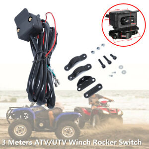 3M Cable ATV UTV Winch Rocker Switch Handlebar Control Line Warn Accessories Kit