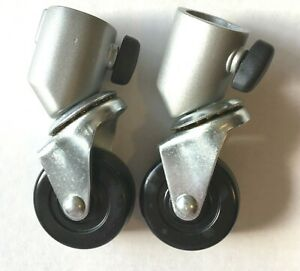 Impact 22MM Caster Wheels for Light Stand Photography Camera Set of 2