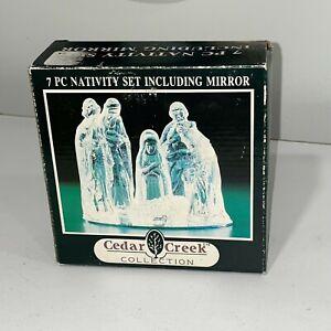 Cedar Creek Collection 7pc Nativity Set Including Mirror