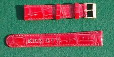 19mm 3/4'' Fire Engine Red Genuine Real Crocodile Watchband Bands Strap USA