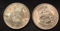 Mexico 5 Pesos  Cuauhtemoc 1948 Silver Coin .900 Silver HIGHER GRADE