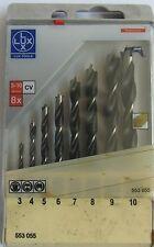 Lux tools kit bits wood 8 pieces Profi 4 3,4,5,6,7,8,9,10 ø /mm drill CV NEW