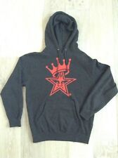 Men's hoody by OBEY size medium grey jumper with red print cotton Good Condition