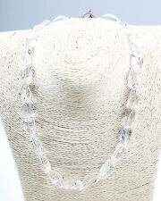 Vintage 1940s Glass Bead and Silver 925 Necklace