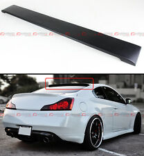 FOR INFINITI 08-2016 G37 Q60 2DR COUPE BLK PRIMER REAR WINDOW ROOF SPOILER WING