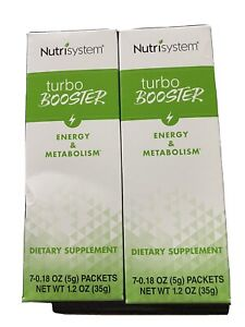 Nutrisystem Turbo Booster 2 Boxes Of 7 (14 Total) Energy & Metabolism