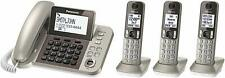 Panasonic KX-TGF353N Corded/Cordless Phone System 3 Handsets Champagne Gold