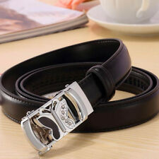 Classic Ladies Butterfly Genuine Leather Belt Waistband Auto Buckle Waist Strap