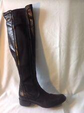 Belle&Rose Black Over Knee Leather Boots Size 36.5