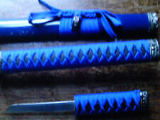 Sword with Blue Hilt and Sheath, plus Knife in Hilt